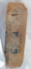 A WWII-era gelignite cartridge, found in 2012 in Kalbarri, Western Australia.