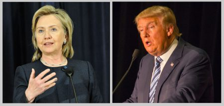 photo of Clinton: U.S. Department of State  (www.flickr.com/photos/9364837@N06/5254760762/) photo of Trump: Matt A.J.  (www.flickr.com/photos/33053264@N00/23429749844/)